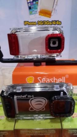 Seashell es un estanco para Samsung Galaxy S3 y 4 y también para Iphone, de buena calidad y que usa unas lentillas interiores para mejorar la calidad de las fotos. Viene con una aplicación que adapta el teléfono para su uso subacuático.